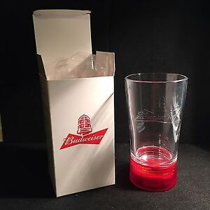 Budweiser red light synced glass.