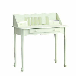 Desk - traditional vintage secretary style, antique white