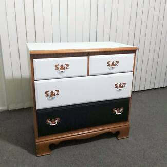 Refurbished 3-tier Solid Wood Chest Drawers