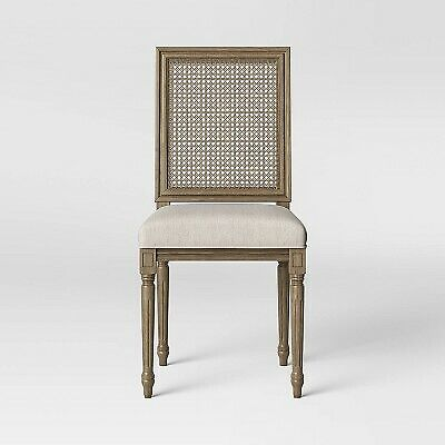 Natick Fabric Seat Cane Back Dining Chair Beige - Threshold
