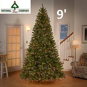 NEW DUNHILL FIR CHRISTMAS TREE 9' DUH-300D-90) 214054446 NATIONAL TREE COMPANY WITH DUAL COLOUR LIGHTS