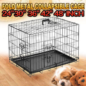 Metal Collapsible Dog Cage Kennel Crate Pet Folding Playpen Thomastown Whittlesea Area Preview