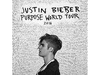 Justin Bieber Tickets x4 Monday 28th November
