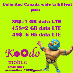 6 Gb Lte data UNLIMITED Nationalwide text&talk for 49$/month