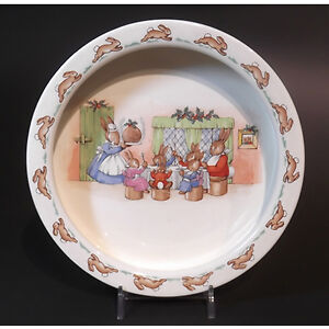 Royal Doulton Christmas Bunnykins Bowl