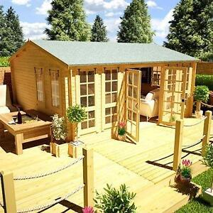 NEW  Aspen Clock Log style summer house  KIT