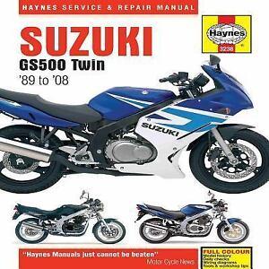 1989-2008 Suzuki GS500E GS500F GS500 E F Twin Haynes Repair Service Manual 9850