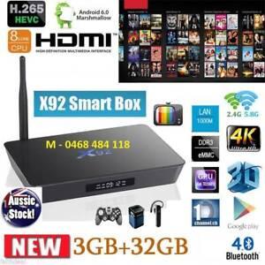NEW X92 Smart TV BOX Android S912 Octa Core 3GB/32GB 4K Kodi wifi Noble Park Greater Dandenong Preview