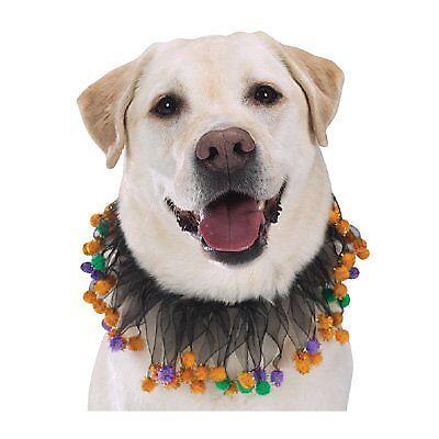 Halloween Pom-Pom Dog Scrunchy Collar - Mardi Gras Pom-Pom Dog Scrunchy Collar (Pom Pom Dogs)