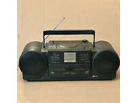 1980s Sharp CD-JX20X Boombox 43W CD Twin Cassette Tuner Aux In