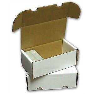 Bundle Of 50 400 Count Cardboard Baseball Trading Card Storage Boxes