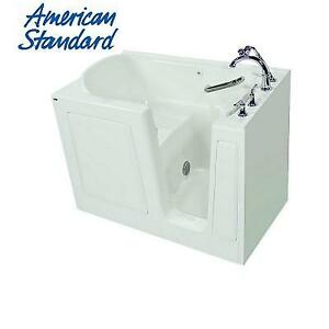 NEW* AMERICAN STANDARD WALK IN TUB 3151.409.SRW-PC 224591817 51'' x 31'' SOAKING QUICK DRAIN