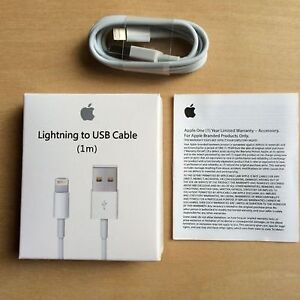 AUTHENTIC APPLE USB DATA CABLE CHARGER FOR IPHONE IPAD IPOD