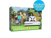 Xbox One S 500GB Console Minecraft Favourites Bundle