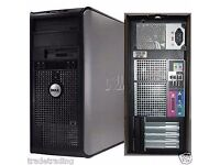 woow Windows 7 Dell Core 2 Duo 4GB 320GB DVD Desktop PC Computer Tower