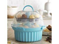Lakeland Carousel Cupcake Carrier/Holder Caddy & Storage Box (Holds 24 Cupcakes)