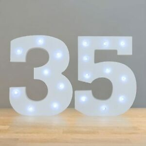 """WANTED: Large light up numbers """"35"""""""