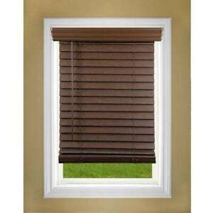 Faux Wood Dark Chocolate Blinds