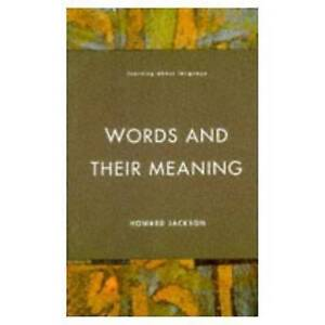 Words and Their Meaning (Learning about Language)-ExLibrary