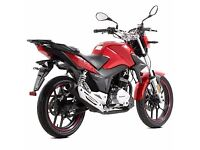 ZSX125 in red. Brand new, 0 miles. End of season showroom model clearance. £1449.