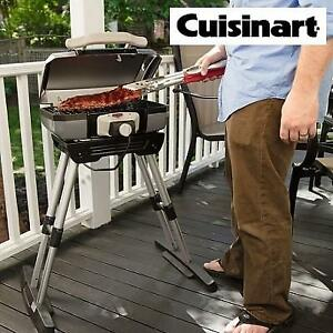 NEW CUISINART ELECTRIC GRILL CEG-980 190810654 OUTDOOR WITH VERSASTAND 22 x 11.8 x 17.6""