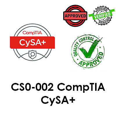 2021 Updated CS0-002, CompTIA CySA+ Exam, PDF File, Dump
