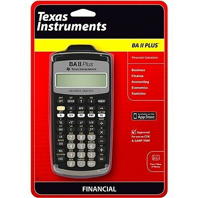 sealed texas instruments ba ii plus financial calculator for sale