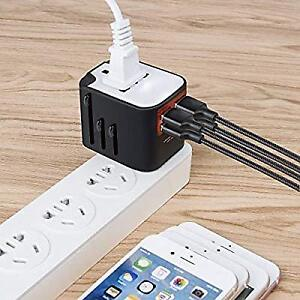 Universal Travel Adapter, All-in-one Worldwide Travel Charger