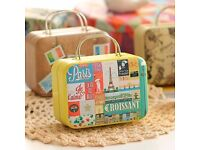 mini metal suitcase with candies. can be use for gift