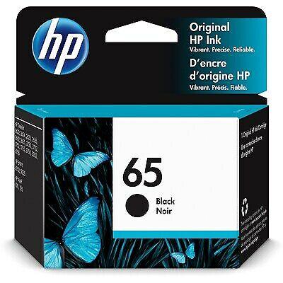 HP 65 Original Ink Cartridge, Black (N9K02AN)