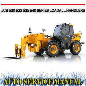 JCB 530 533 535 540 SERIES LOADALL HANDLERS WORKSHOP SERVICE REPAIR MANUAL ~ DVD