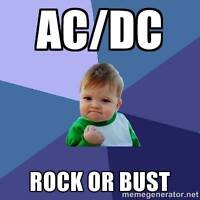 ACDC ROCK OR BUST - Floor Seat!