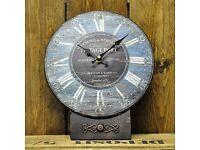 brand new Vintage Port Retro Vintage 26cm Table Clock - HALF PRICE OFFER