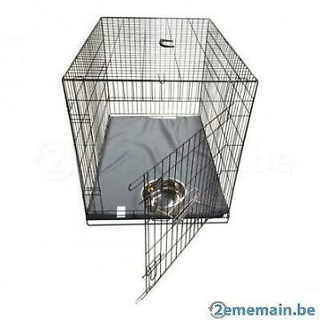 Cage complète avec bac + coussin + BOL INOX 6 tailles