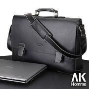 Mens Black Leather Briefcase