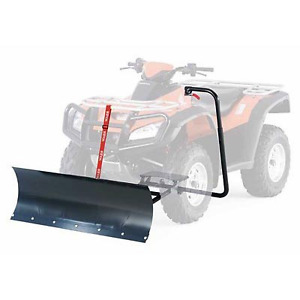 Want to run a plow on your ATV but don't have a winch?