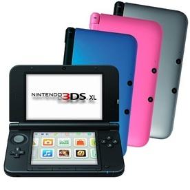 Nintendo 3DS XL Spielekonsole in verschiedenen Farben