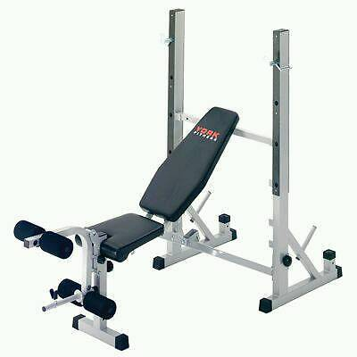 york weights. york weights bench + curl attachment lat barbell over 100kg iron