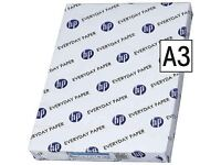 HP Everyday Plain 500 Sheets of 75gsm A3 Paper Brand New Packed