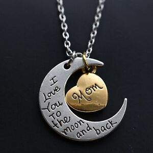 I love you to the moon and back necklaces.