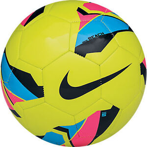 Nike Beach Strike Size 5 Soccer Ball  (HOT LIME/CURRENT BLUE//BLACK/PINK FLASH)