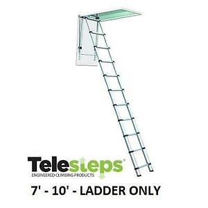 NEW TELESCOPIC ATTIC LADDER T1000 245891997 TELESTEPS 7 TO 10 CEILING HEIGHTS LOFT