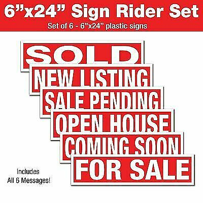 Real Estate Sign Riders - Coming Soon For Sale Sale Pending New Listing