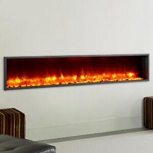 "79"" Built-in LED Wall Mount Electric Fireplace(Free Shipping)"