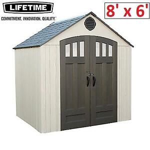 NEW* LIFETIME 8' x 6' STORAGE SHED 60147U 210071756 OUTDOOR