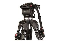 Kenro Twin Tube Video Tripod Kit (Aluminium) with VH01B Fluid Head (Ball Base)