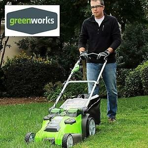 NEW GREENWORKS LAWN MOWER 20 40V 25302 246368691 TWIN FORCE CORDLESS 4.0 AH AND 2.0 AH BATTERIES INCLUDED