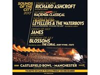 James - Castlefield Bowl, Manchester - 7th July 2017 - 3 Tickets