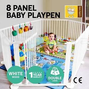 Wooden Playpen Divider Safety Gate 8 Panel Brand New Brisbane City Brisbane North West Preview