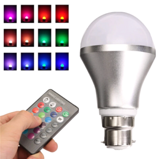 Color Changing LED Light Bulb B22 Bayonet with remote